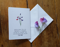 Sweet Pea card by Alice Draws The Line