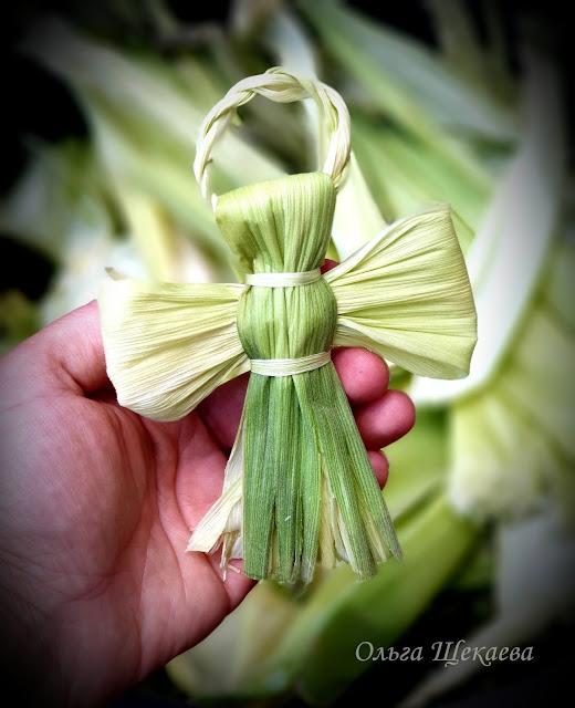 ангел, из, кукурузных, листьев, мотанка