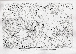 Sample coloring page of Marvel Jumbo Coloring & Activity Book: New Allies