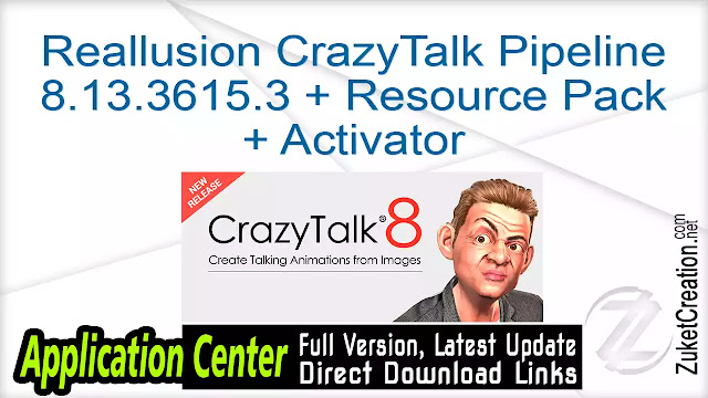 Reallusion CrazyTalk Pipeline 8.13.3615.3 + Resource Pack + Activator