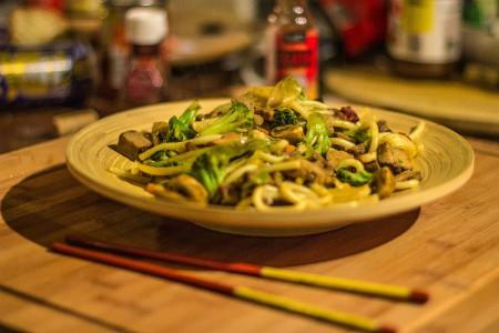 Pasta con bambú