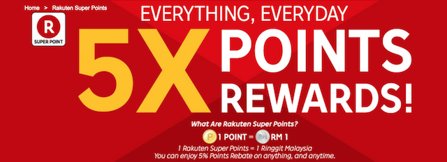 5X Points Rewards, for everything, everyday !