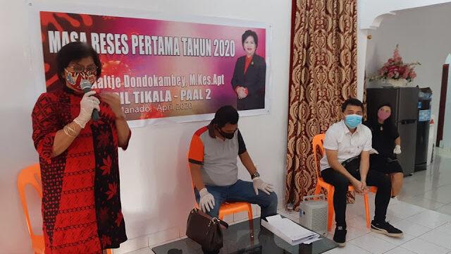 DPRD Kota Manado Reses Ditengah Pandemic Virus Corona