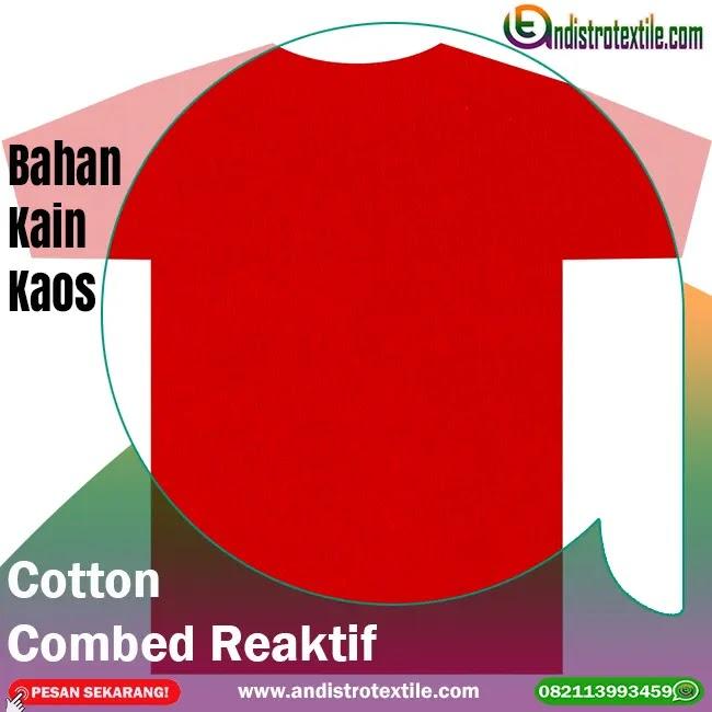 Jual Bahan Kaos Katun Combed 30s Merah