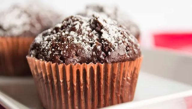 Muffins de plátano con chispas de chocolate