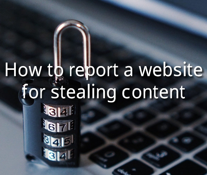 How to report a website for stealing content