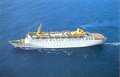 Home Line's Atlantic During Happier Times on a Cruise From New York to Bermuda.