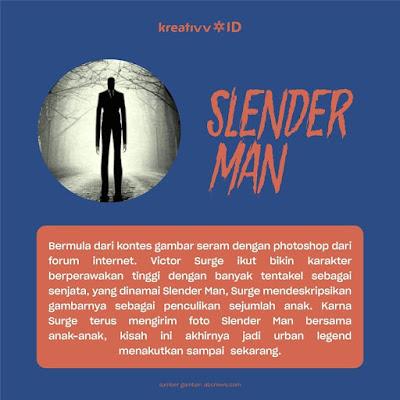 Makhluk Seram Mengerikan SLENDER MAN