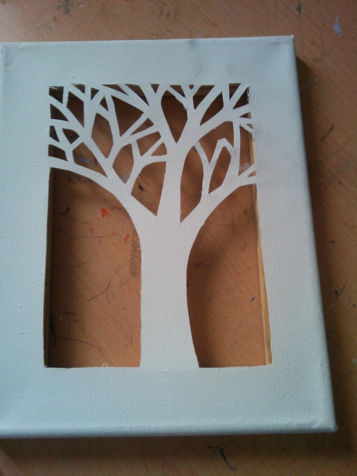 Manualidades y otros entretenimientos lienzo con silueta - Pintura acrilica manualidades ...