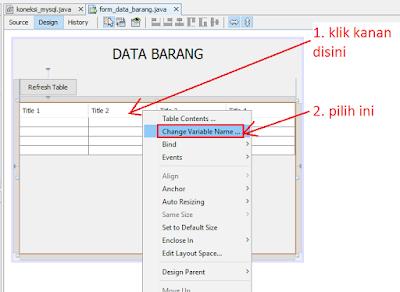 5 - Tutorial Java Netbeans – Cara Gampang Menampilkan Data Yang Ada Di Database Mysql