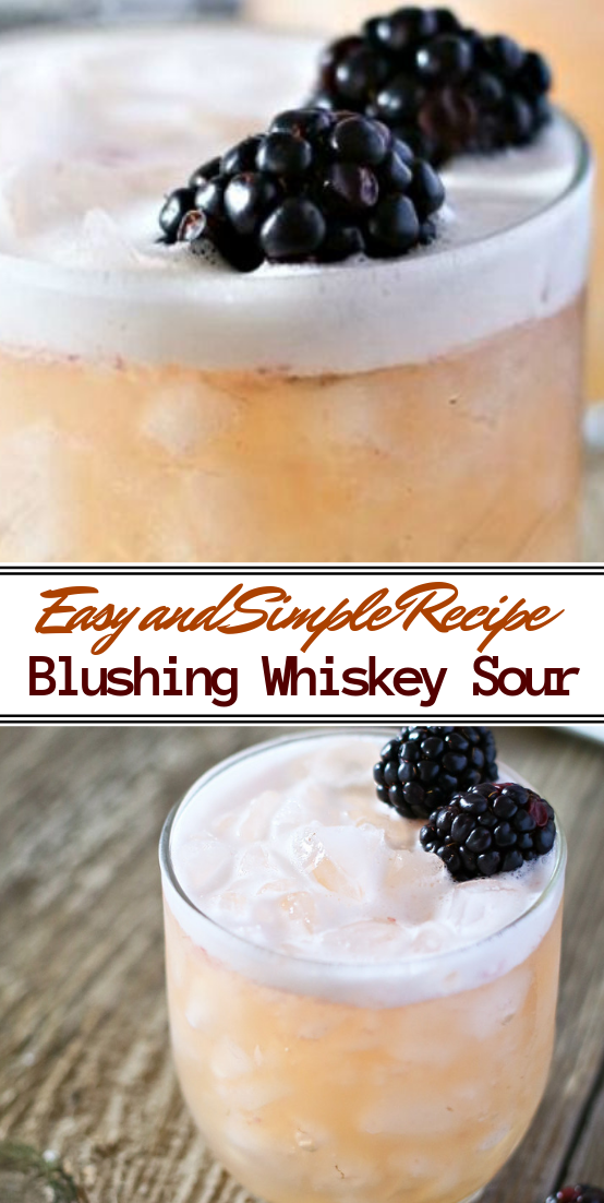 Blushing Whiskey Sour  #healthydrink #easyrecipe #cocktail #smoothie