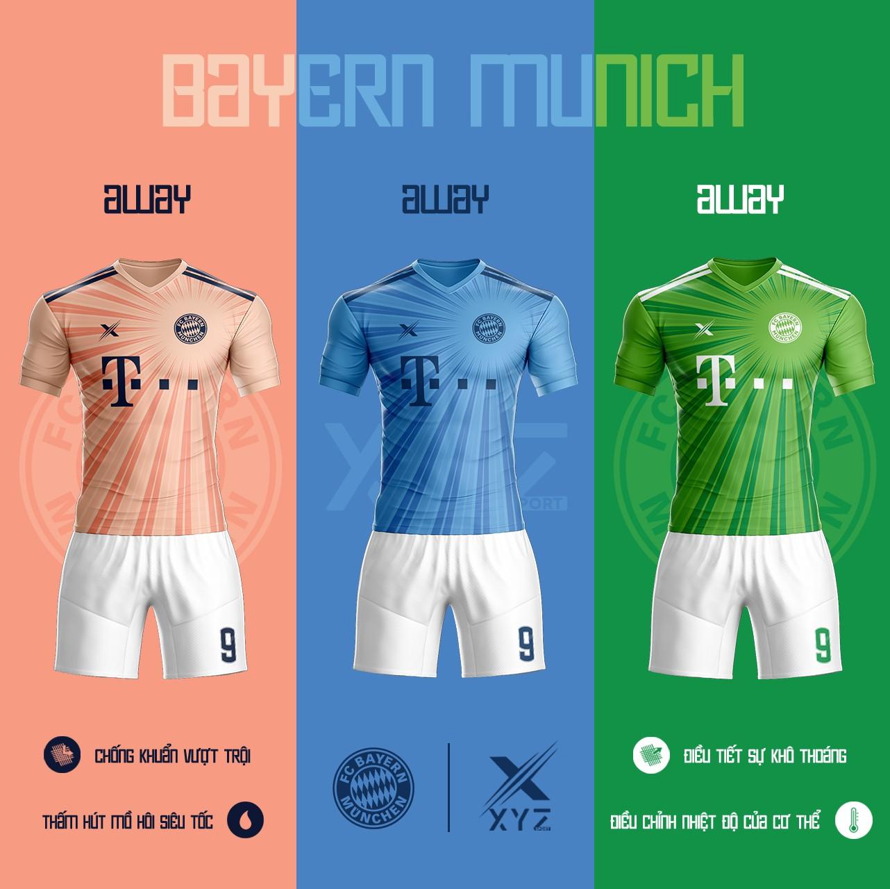 Áo Đấu Bóng Đá Bayern Munich Tự Thiết Kế Đẹp Và Độc - Mã BM02
