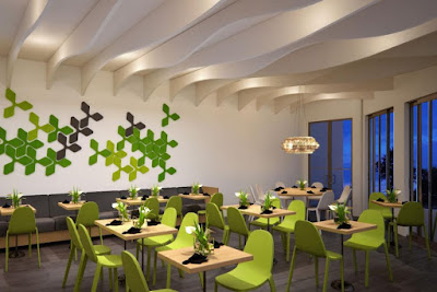 Diners can expect the 70-seat restaurant to have the same bright green interior with clean lines and fresh modern art.