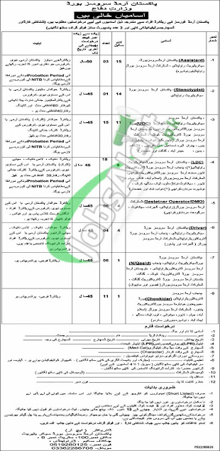 Pakistan-armed-service-board-pasb-jobs-2020-latest-advertisement