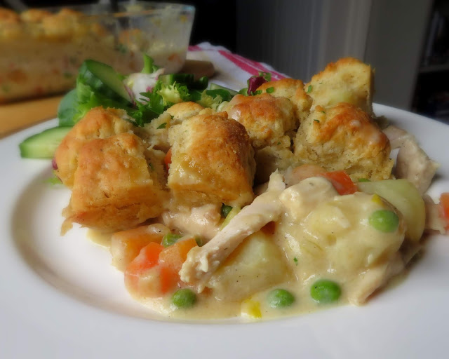 Creamy Chicken & Butter Biscuits