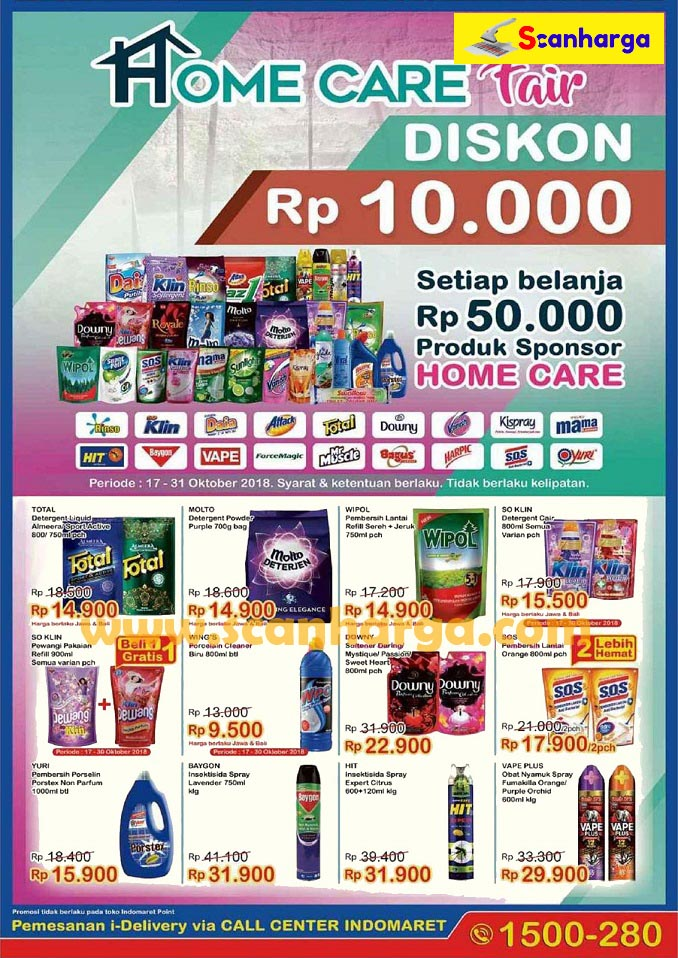 Promo Indomaret Terbaru Home Care Fair 17 31 Oktober 2018 Katalog Promosi Katalog Promosi