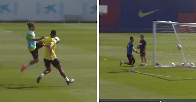 Video: Griezmann with a beautiful goal in Barcelona training ahead of Bayern clash