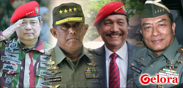 Daftar Jenderal Bintang Empat di Balik Kekuatan Jokowi dan Prabowo
