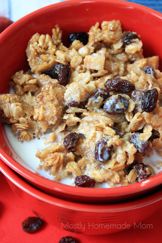Raisin Apple Amish Baked Oatmeal breakfast casserole