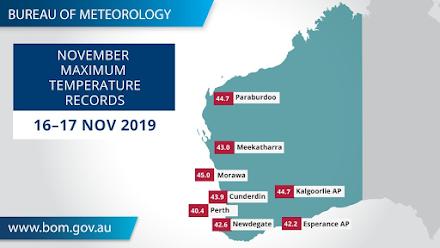 Πρωτοφανής καύσωνας στην Δυτική Αυστραλία