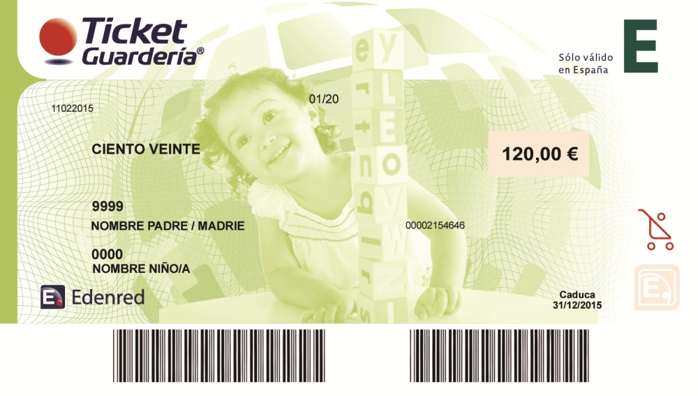ticket guarderia