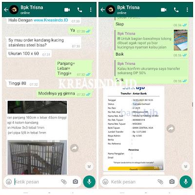 Kandang Kucing Stainless pesanan Bpk Trisna di Padasuka Bandung