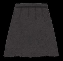 スカートのイラスト(黒)