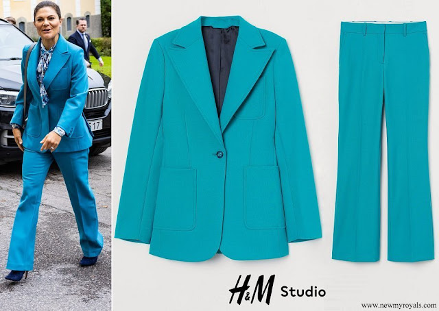 Princess Victoria wore H&M wool blend jacket and trousers