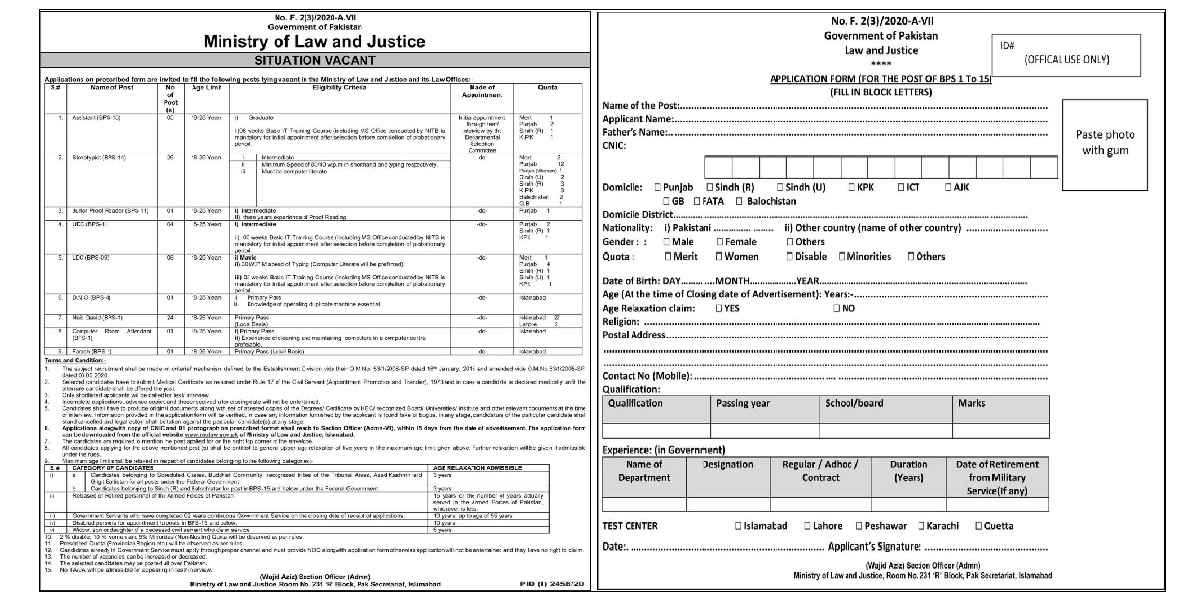 70+ Posts in Ministry of Law & Justice Jobs 2020 for Assistants