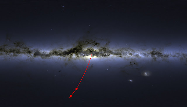 A runaway star ejected from the galactic heart of darkness