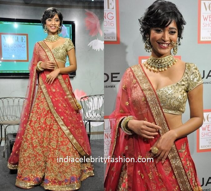 Sayani Gupta in Bridal Lehenga