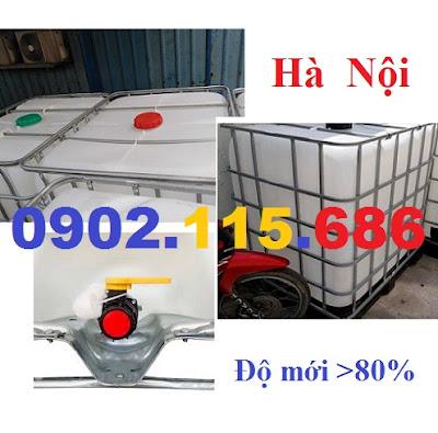 N2 Tank nhựa IBC cũ, tank đựng hóa chất 1000l, tank đựng nước công trình 1000l, tank đựng xăn