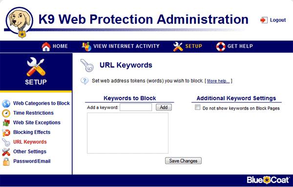 K9 Web Protection-Δωρεάν προγράμματα γονικού ελέγχου παιδιών