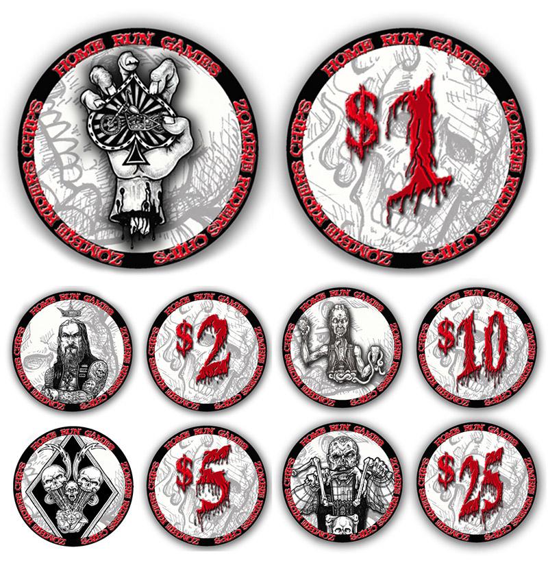 zombie poker chips