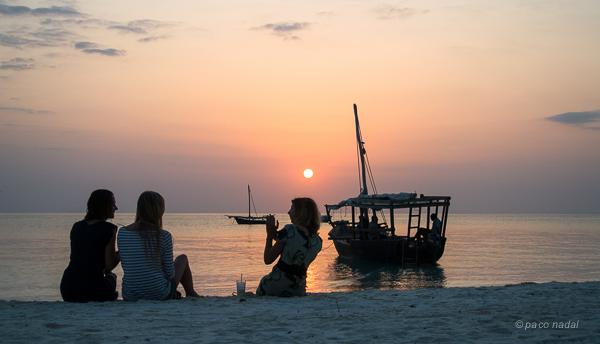 Zanzibar puesta a sol