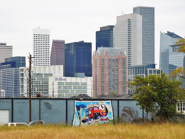 EADO MURAL WITH DOWNTOWN HOUSTON PANORAMA