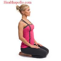 Vajrasan exercise for cervical