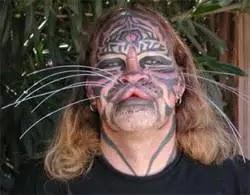 Dennis Avner human tiger tattoo