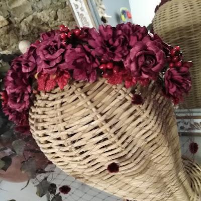 diadema flores con velo