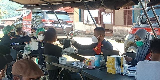 Polresta Jayapura Kota Gelar Vaksin Presisia di Dok IV Bhayangkara