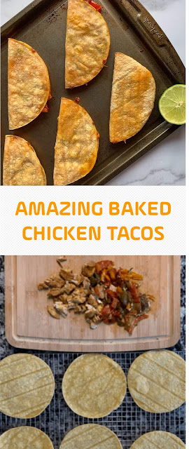 AMAZING BAKED CHICKEN TACOS