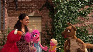 Elmo, Leela, Judy, Abby Cadabby, kangaroo, Sesame Street Episode 4419 Judy and the Beast season 44