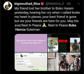 Another Nigerian Soldier Allegedly Killed By Boko Haram (Photo)