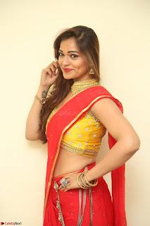 Actress Ashwini in Golden choli Red saree Spicy Pics ~  069.JPG