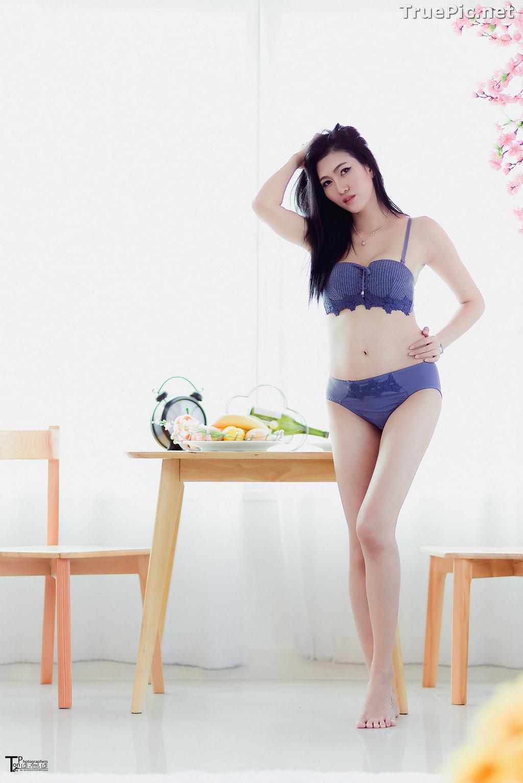 Image Thailand Model - Sawinee Boonbunlu - Sexy Blue Purple Lingerie - TruePic.net - Picture-4
