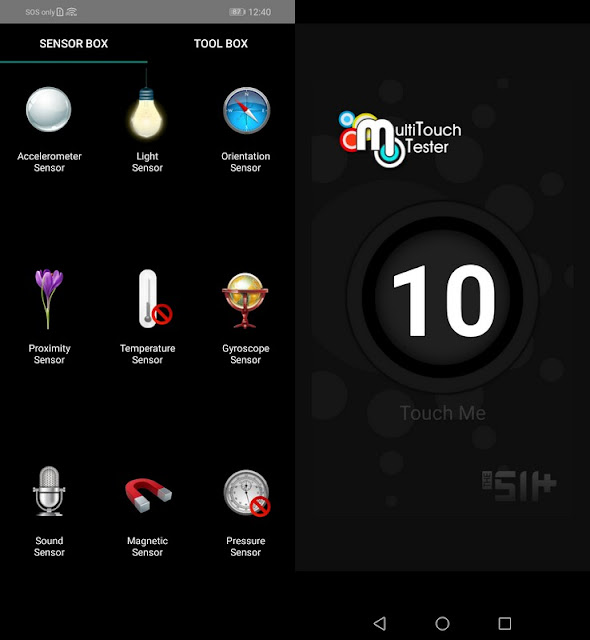 Sensorbox for Android & Multitouch Tester Honor 8X