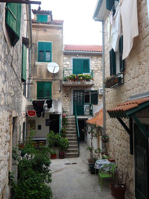 Streets in Varos, Split, Croatia