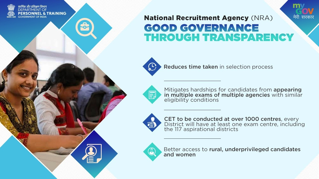 National Recruitment Agency : All You Need to know about NRA and CET for Group B, Group C Vacancy