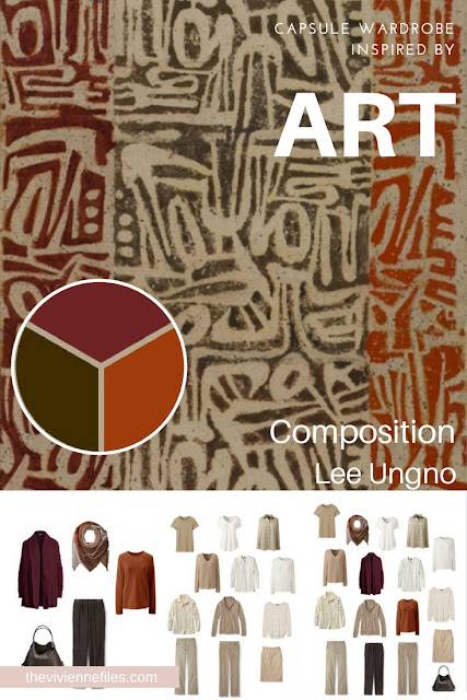 """Does the """"French 5-Piece Wardrobe"""" Work with Warmer Colors? Start with Art! Composition by Lee Ungno"""