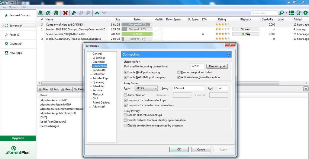 Does tor work with utorrent lefml-lorraine eu